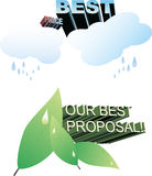 Nature vectors - advertise. Nature, vectors design - advertise proposals Royalty Free Stock Image