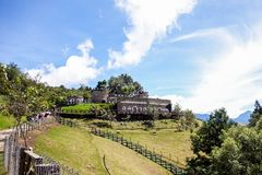 Taiwan Qing Jing Farm Mountain Castle stock photo