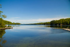 Nature. A view of a lake from the shore on a clear day Royalty Free Stock Image