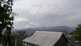 Nature view of mountains from roof Royalty Free Stock Photo