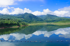 Nature of view Mountains and water in northern Thailand Royalty Free Stock Photos