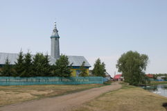 Nature and villages Republic of Bashkortostan. 2010. mosque Stock Photo
