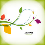 Nature vintage green floral abstract background. This is file of EPS10 format Stock Photos
