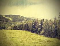 Nature vintage mountain background. Stock Photography