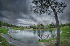 Nature at vortex springs florida on rainy day stock image