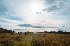 Nature walks through Ohio parks in Autumn Stock Photos