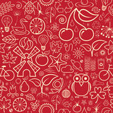 Nature Wallpaper. Red Seamless Nature Wallpaper or Background Stock Image