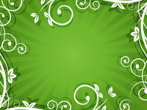Nature wallpaper with spiral frame and stripe for your text. Royalty Free Stock Photos