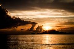 View. Wallpaper sunset seaview Stock Photo