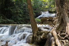 Nature water falls. Kanchanaburi nature water falls Thailand Stock Photography