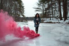 Nature, Water, Pink, Snow stock photography