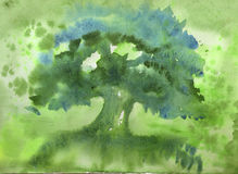 Nature watercolor background Royalty Free Stock Photo