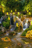 Nature with a waterfall that looks rilex, comfortable and refres Stock Photos