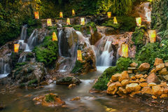 Nature with a waterfall that looks rilex, comfortable and refres Stock Photography