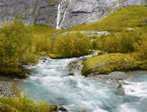 Nature Waterfall River Scenery Norway Royalty Free Stock Photos