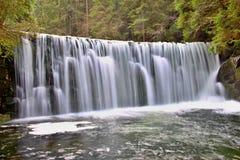 Mountain waterfall in the Czech Republic stock photography