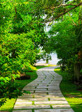 Way to beach in tropical resort Royalty Free Stock Photography