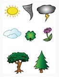 Nature weather collection Stock Photos
