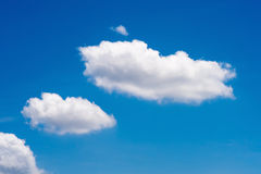 Nature white cloud on blue sky background in daytime. Photo of nature cloud for freedom and nature concept Royalty Free Stock Photos