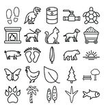 Nature and Wildlife  Vector Icons set which can easily modify or edit stock illustration