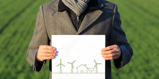 Nature and wind power energy Royalty Free Stock Photo