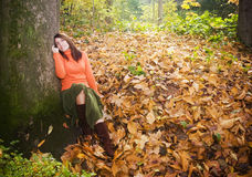nature woman στοκ εικόνες