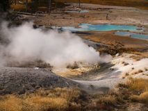 Nature Wonders Yellowstone National Park Wyoming. Nature wonders. Volcanoes and hot springs in Yellowstone National Park. Wyoming, United States Stock Photos