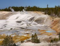 Nature Wonders, Yellowstone National Park, Wyoming. Nature wonders. Volcanoes and hot springs in Yellowstone National Park. Wyoming, United States Stock Photos