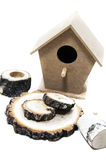 Nature wood birdhouse Stock Image