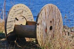 Nature. Wood circular in Norwegian nature Stock Photo