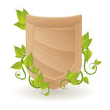 Nature wood shield Stock Photography