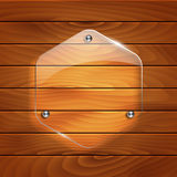 Nature wood texture background. With glass element stock illustration