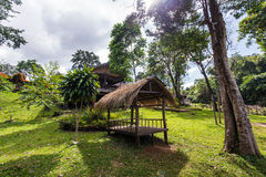 Nature wooden houses huts in a Asia vietnam Royalty Free Stock Images
