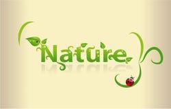 Nature word art vector illustration