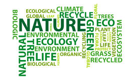 Nature word cloud Stock Image