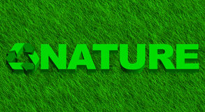 Nature word over green grass Royalty Free Stock Photography