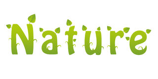 Nature word Royalty Free Stock Photos