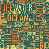 Nature words seamless pattern. Stock Photography
