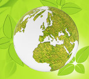 Nature World Represents Global Environmental And Natural Royalty Free Stock Photography