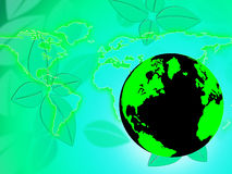 Free Nature World Shows Worldly Globe And Scenic Stock Image - 42013301
