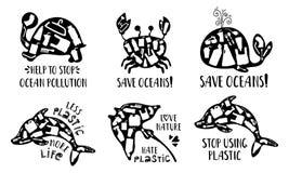 NatureEcologyPollution royalty-vrije illustratie