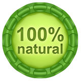 100% naturel Images stock