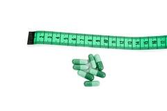 Naturel amincissez le concept de pilules de régime Photographie stock