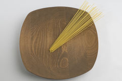 Naturel wooden plate Royalty Free Stock Photography