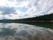 Naturen är en spegel fotografering för bildbyråer