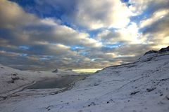 Naturen av Faroeen Island Royaltyfri Foto