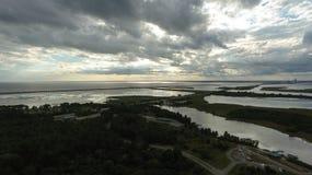 Naturen för 5 floder parkerar och deltan för mobil fjärd Arkivfoto