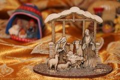 Naturen skapar Kristi födelsen - små Kristi födelser från över hela världen Arkivbilder