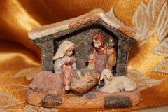 Naturen skapar Kristi födelsen - små Kristi födelser från över hela världen Arkivbild