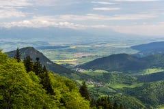 Natureza ao longo da maneira do ciclismo de Malino Brdo a Revuce em Slova Fotografia de Stock